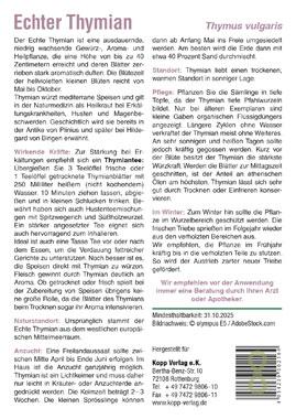 Echter Thymian - Mein Heilpflanzengarten_small01