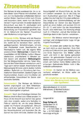 Zitronenmelisse - Mein Heilpflanzengarten_small01