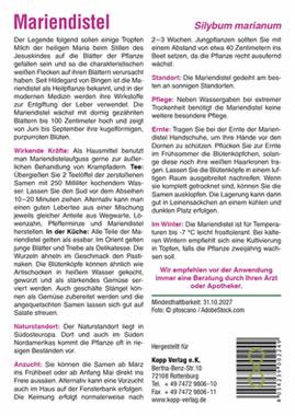 Mariendistel - Mein Heilpflanzengarten_small01