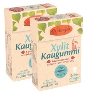 Birkengold ®  Xylit-Kaugummi Teebaumöl/Minze_small