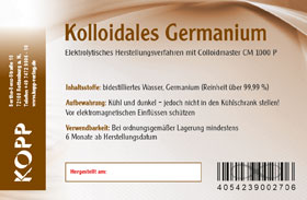 Kolloidales Germanium - Konzentration 100 ppm - 250 ml_small02