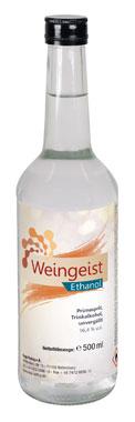 Kopp Weingeist - Ethanol - 500 ml, inklusive Mischtabelle_small