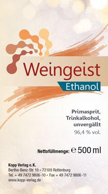 Kopp Weingeist - Ethanol - 500 ml, inklusive Mischtabelle_small01