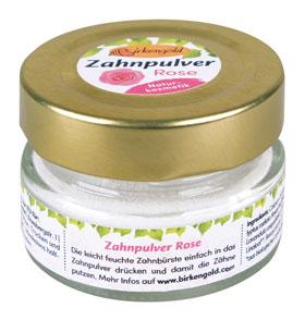 Birkengold® Zahnpulver Rose Glas mit 30 g_small