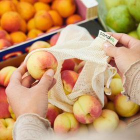 3er-Set Pandoo Obst- und Gemüsenetze aus Bio-Baumwolle_small02
