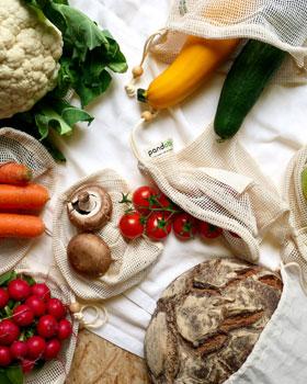 7er-Set Pandoo Obst- und Gemüsenetze aus Bio-Baumwolle_small01