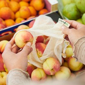 7er-Set Pandoo Obst- und Gemüsenetze aus Bio-Baumwolle_small02