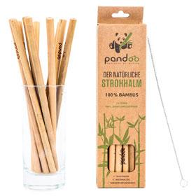Pandoo plastikfreie Strohhalme aus Bambus - 100 % Naturprodukt_small