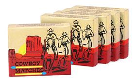 5er-Pack Überallanzünder Cowboy-Matches_small