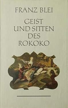 Geist und Sitten des Rokoko - Mängelartikel