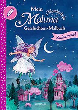 Mein Maluna Mondschein Geschichten-Malbuch - Mängelartikel - Cover leicht beschädigt