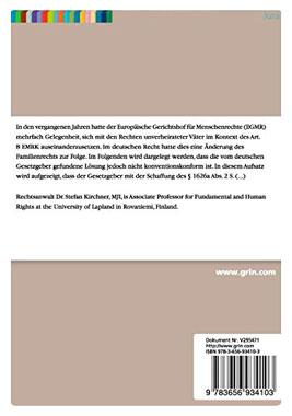 Sorgerecht und Europäische Menschenrechtskonvention - Mängelartikel_small01