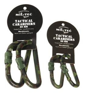 Mil-Tec® Karabinerhaken mit Schraubverschluss (1 Paar) - 60 mm_small