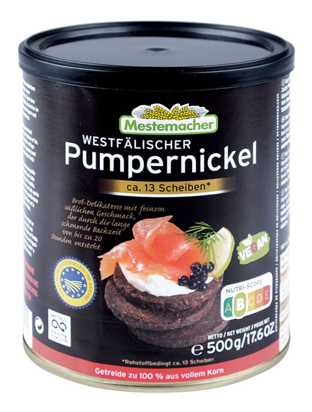 Pumpernickel Dosenbrot