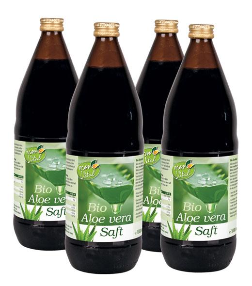 Kopp Vital Bio Aloe-Vera-Saft Karton mit 4 × 1 l