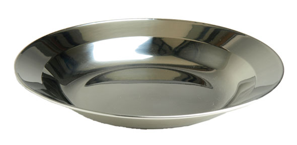 Tiefer Teller aus Edelstahl - 22 cm