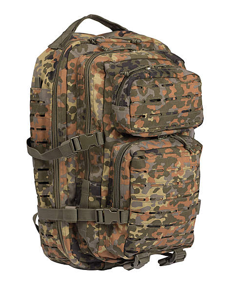 US Assault Pack Rucksack Laser Cut Flecktarn 36 Liter