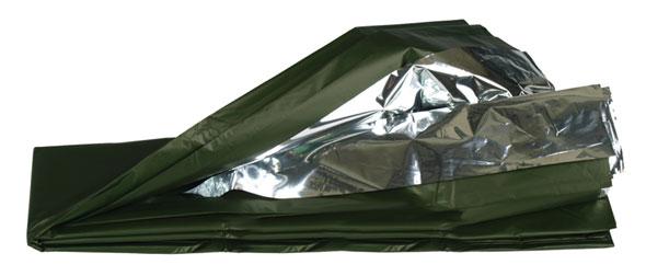 Survivaldecke silber/oliv - 215 x 130 cm