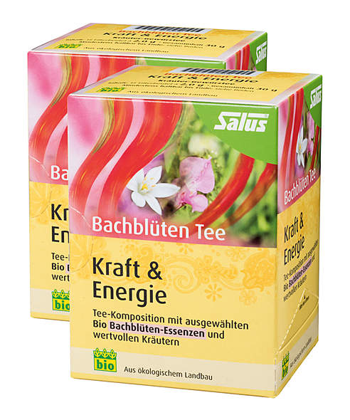 2er Pack Salus Bachblüten Tee Kraft & Energie - Bio