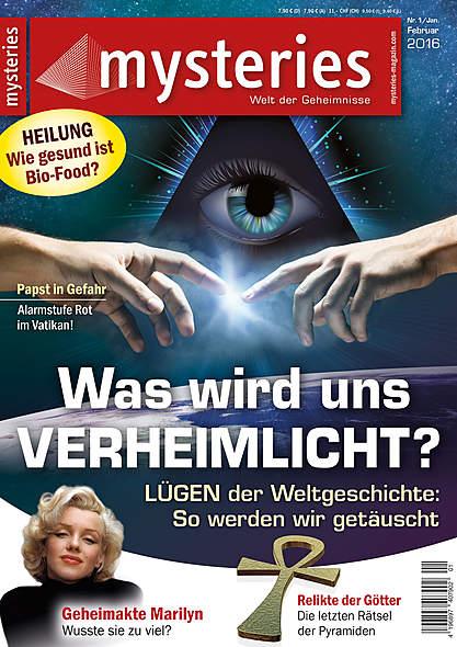 Mysteries -Ausgabe Nr. 1 Januar/Februar 2016