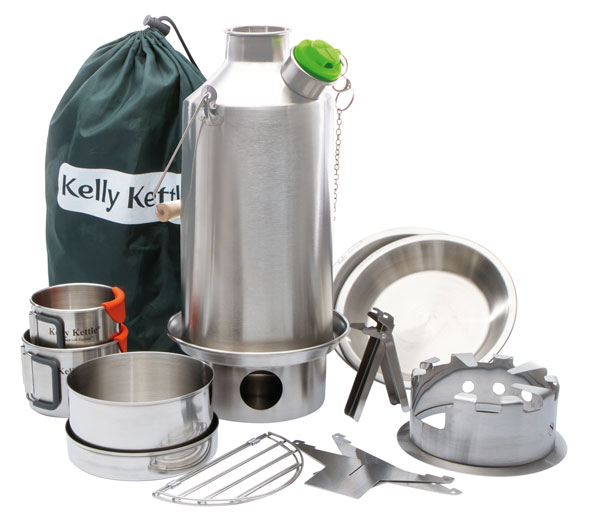Kelly Kettle Base Camp Set Edelstahl