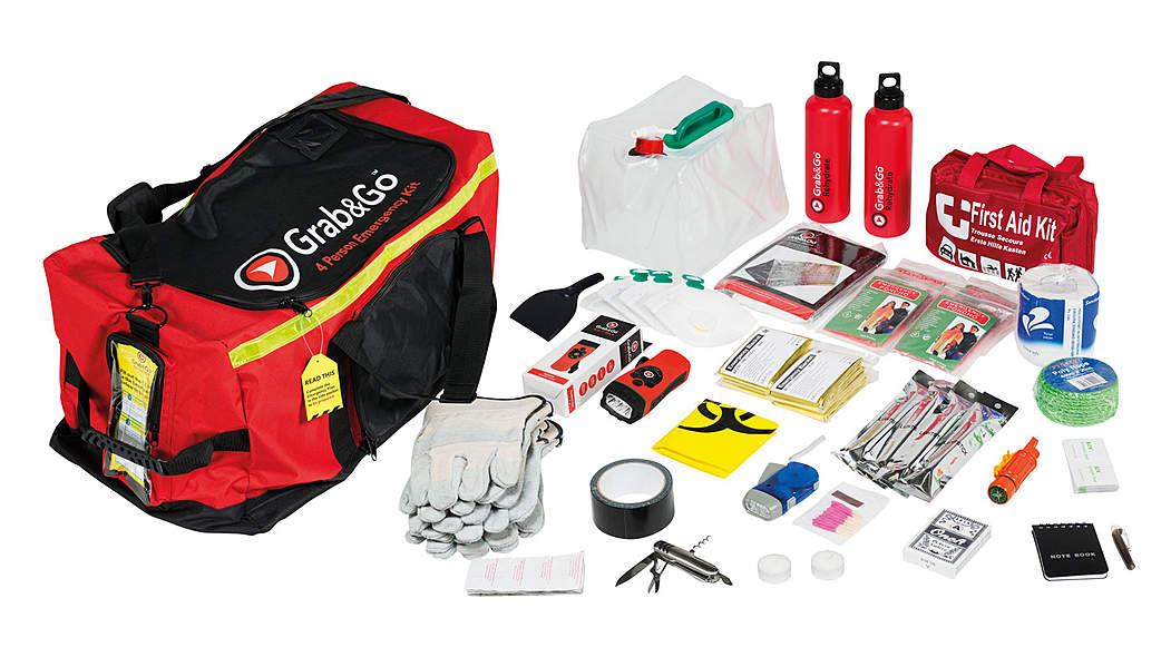 Grab & Go Emergency Kit (Fluchtgepäck) - 72 Stunden vier Personen (3 Tage)
