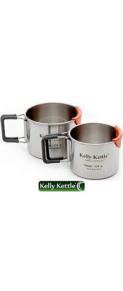 Kelly Kettle Campingbecher Set - 350ml und 500ml