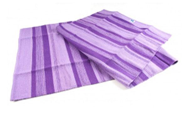 Yoga Matte aus Baumwolle - lila