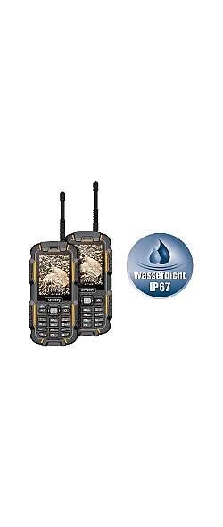 2er Set Dual-Sim Outdoor Handy Walkie Talkie XT-980