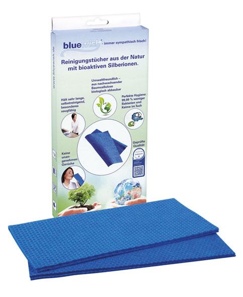 BlueWish 2x Reinigungstücher mit Silberionen