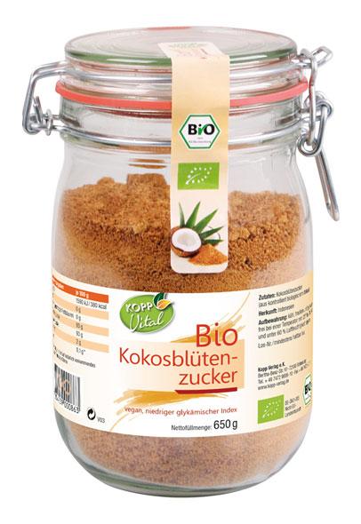 Kopp Vital Bio Kokosblütenzucker im Bügelglas - vegan