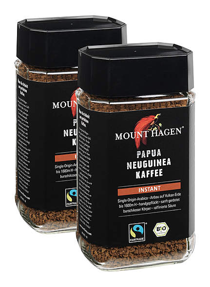 2er-Pack Mount Hagen Bio Papua Neuguinea Kaffee Instant