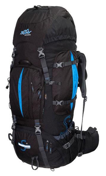 Tashev XXL Trekkingrucksack 100L + 20L Mount S+ Cordura® - schwarz/blau