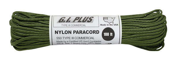 Rothco Nylon Paracord Type III 550 LB 100FT (30m)