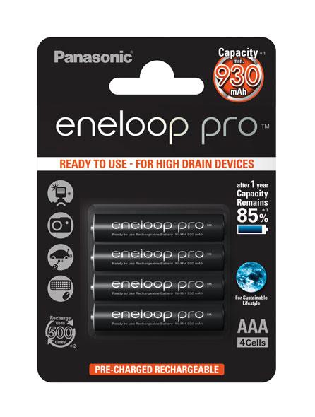 eneloop Pro AAA (Micro) 930 mAh 4 Blisterpack - Der Outdoor Akku