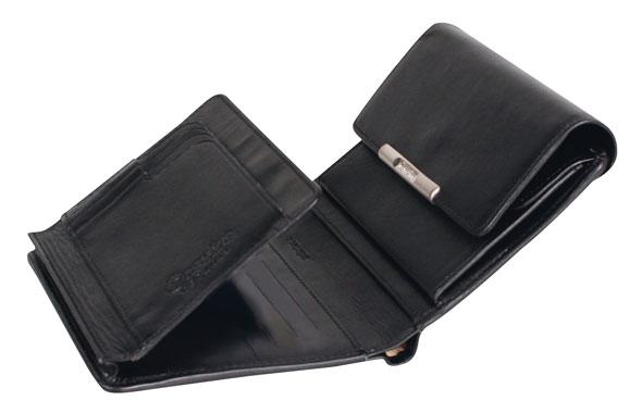 Esquire RFID Damen-Geldbörse - schwarz 12×11cm