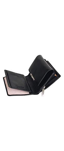 Esquire RFID Damen-Geldbörse - schwarz 14×10,5cm