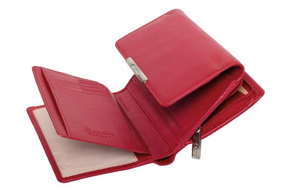 Esquire RFID Damen-Geldbörse - rot 14×10,5cm