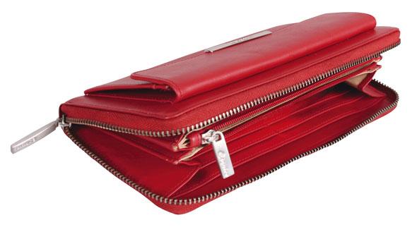 Esquire RFID Damen-Geldbörse - rot 19×10cm