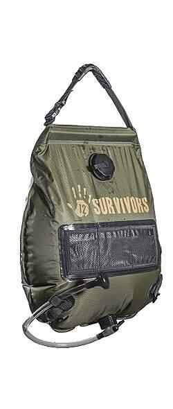 12 Survivors® 5-Gallon Solar Dusche