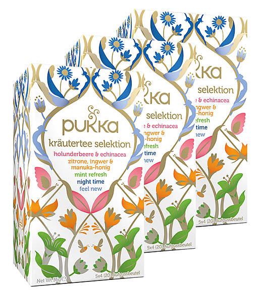 3er Pack Pukka Bio Kräutertee Selektion