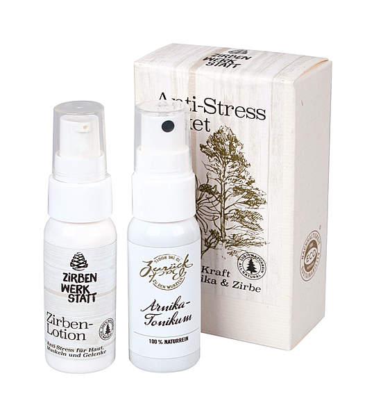 Zirbenwerkstatt Anti-Stress-Paket mit Arnika & Zirbe - vegan