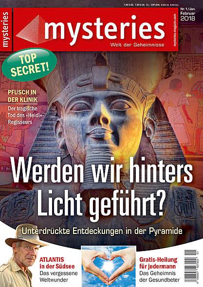 mysteries- Ausgabe Nr. 1 Januar/Februar 2018