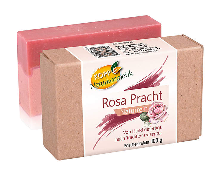 Kopp Naturkosmetik Rosa Pracht Seife - vegan