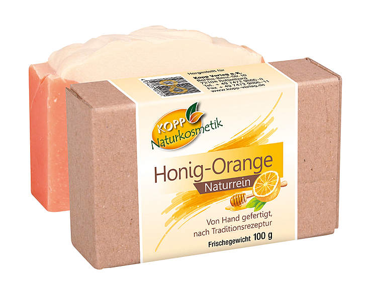 Kopp Naturkosmetik Honig-Orange Seife