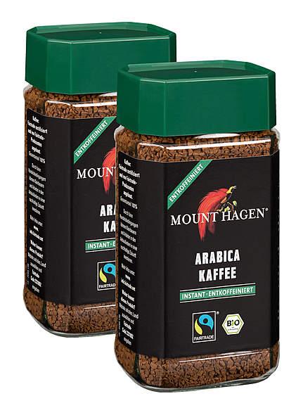 2er Pack Mount Hagen Instant-Kaffee, entkoffeiniert - 100g