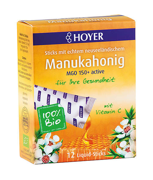Bio Manukahonig Liquid-Sticks MGO 150+ active