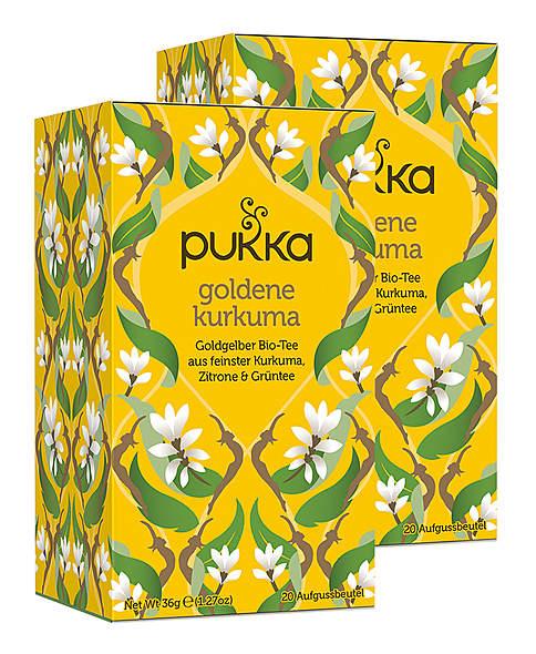 2er Pack Pukka Goldener Kurkuma Tee