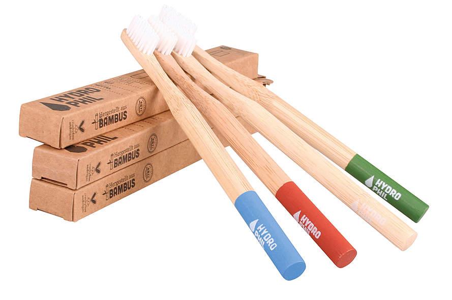Hydrophil Zahnbürsten aus Bambus