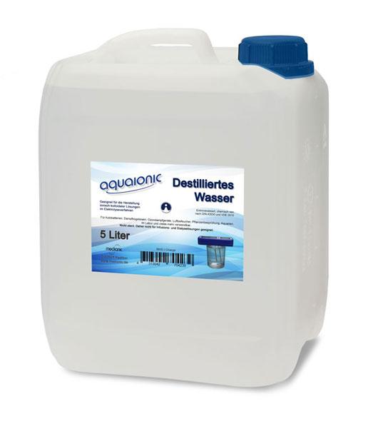 aquaionic® - Destilliertes Wasser - 5 Liter - Aqua dest